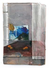 Vorhang, Fenster, Tisch, Malerei