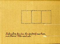Briefmarken, Perforation, Klimaschutz, Zeichnungen