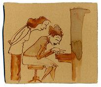Klavier, Eintauchen, Spielen, Genuss