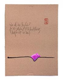 Beachtung, Einbuchten, Haiku, Zeichnungen