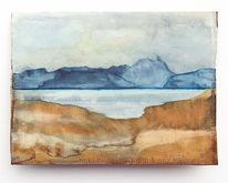Zukunft, Landschaft, Berge, See