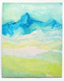 Natur, Harry schlüther, Berge, Malerei