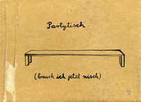 Tisch, Gedicht, Party, Zeichnungen