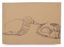 Wanderung, Nacht, Schlaf, Zeichnungen