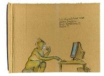 Social media, Denken, Reaktion, Zeichnungen