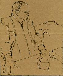 Bier, Tapir, Mann, Zeichnungen