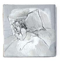 Bett, Traum, Schlaf, Malerei