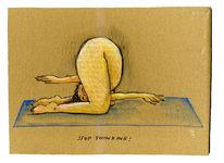 Yoga, Denken, Zeichnungen, Stop