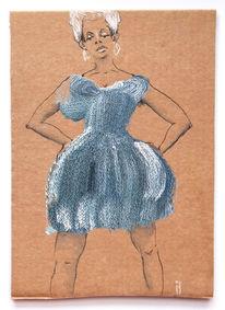 Kleid, Mode, Stricken, Zeichnungen
