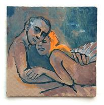 Mann, Frau, Paar, Malerei