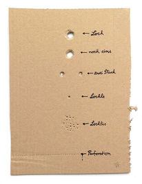 Loch, Löchle, Perforation, Plastik