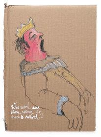 Regieren, König, Müde, Zeichnungen