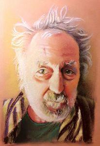Gesicht, Portrait, Licht und schatten, Malerei