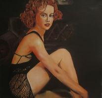 Frau, Ölmalerei, Malerei,