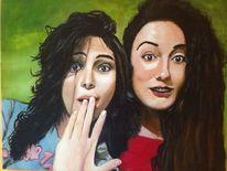 Frau, Ölmalerei, Sommer, Malerei