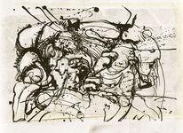 Widerstand, Handzeichnung, Steinig, Zeichnung