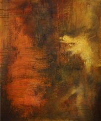 Leichtigkeit, Abstrakte acrylmalerei, Abgang, Abstrakt