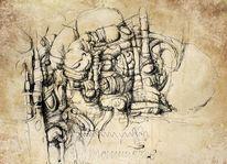 Tuschezeichnung, Zeichnungen