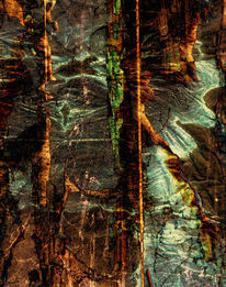 Acrylmalerei, Abstrakt, Landschaft, Spachteltechnik