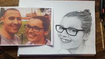 Portrait, Zeichnung, Bleistiftzeichnung, Gesicht