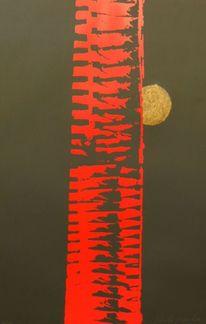 Abstrakt, Siebdruck, Druckgrafik