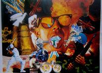Collage, Frieden, Digitale kunst, Schrei