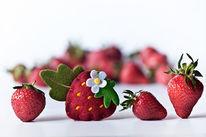 Erdbeeren, Orginal und fälschung, Sommer, Fotografie