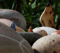 Stein, Muschel, Miniaturfiguren, Fotografie