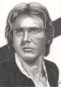 Portrait, Zeichenstift, Kohlezeichnung, Zeichnungen
