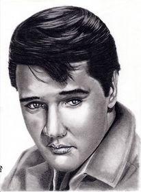 Portrait, Bleistift kohle kreide, Fettstift, Zeichnungen