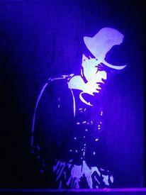 Leuchtbilder, Licht, Schwarzlicht, Clown