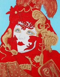 Maske, Malerei, Karneval, Venedig