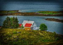 Landschaft, Haus, Wasser, Norwegen