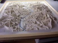 Landkarte, Hart, Geschenk, Modell