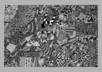 Linie, Schachbrett, Hundertbilder, Fläche