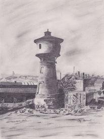 Wasserturm, Alter wasserturm, Neunkirchen scheib, Geschichte