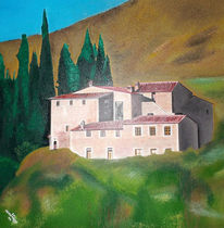 Architektur, Landschaft, Naturalistisch, Malerei
