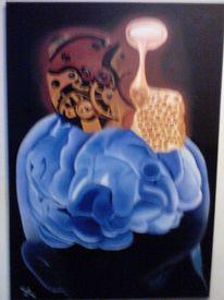 Konstruktiv, Fantasie, Malerei, Kopf