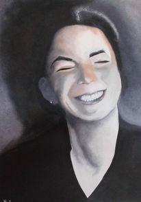 Portrait, Naturalistisch, Malerei,