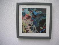 Rot schwarz, Blau, Rahmen, Kunsthandwerk
