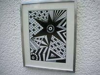 Weiß, Schwarz weiß, Edding, Malerei