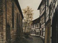 Gasse, Feinmalerei, Stadt, Altstadt