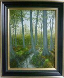 Landschaft, Feinmalerei, Baum, Wald