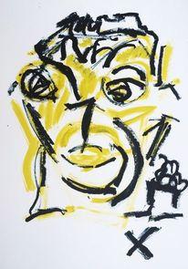 Geburtstag, Portrait, Mann, Zeichnungen