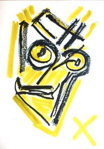 Portrait, Mann, Strich, Zeichnungen