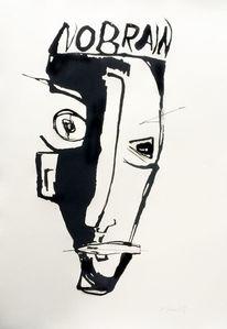 Menschen, Tusche, Abstrakt, Zeichnungen