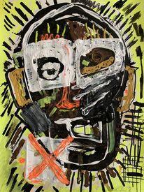 Portrait, Junge, Malerei