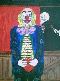 Modern art, Verlieben, Clown, Menschen