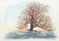 Naturstudie, Schatten, Landschaftsmalerei, Baum