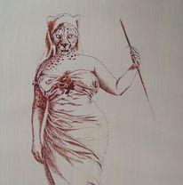 Menschen, Gepard, Symbol, Faltenwurf